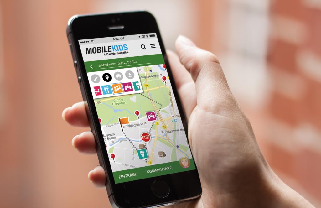 Foto von der MobileKids App für mehr Sicherheit im Straßenverkehr.