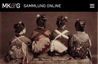 Startseite mit Galeriefoto auf MKG Sammlung Online