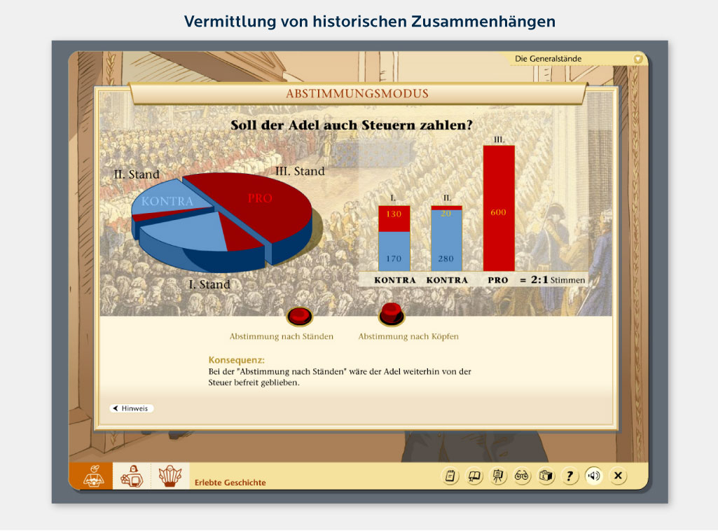 Vermittlung von historischen Zusammenhängen