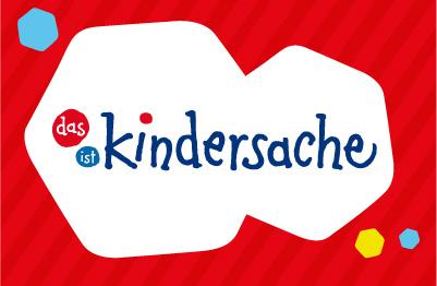 Logo des Kindersache-Portals mit bunten Sechsecken